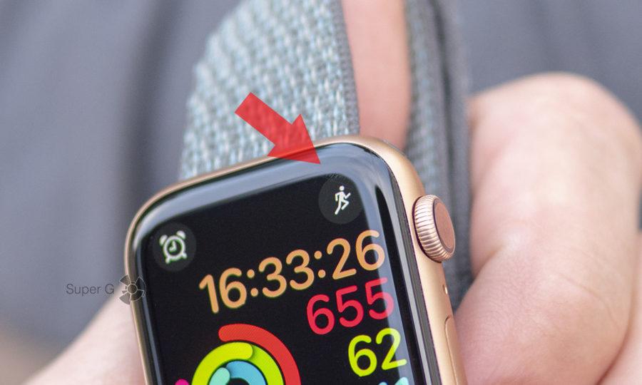 Небольшое повреждение стекла Apple Watch Series 4 за неделю использования