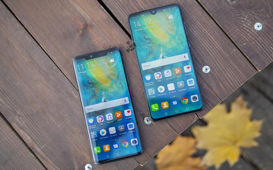 Экраны Huawei Mate 20 и Mate 20