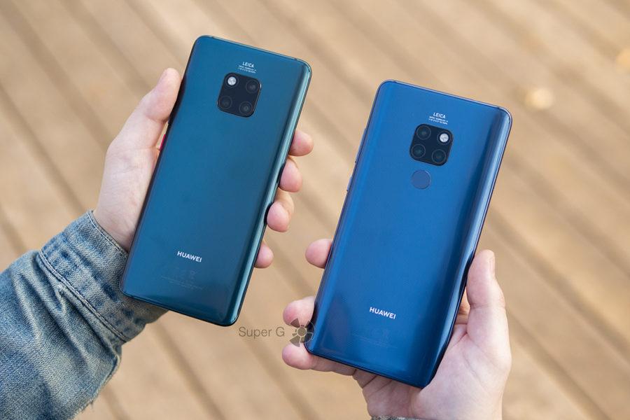 Huawei Mate 20 Pro (слева) и Huawei Mate 20 (справа)