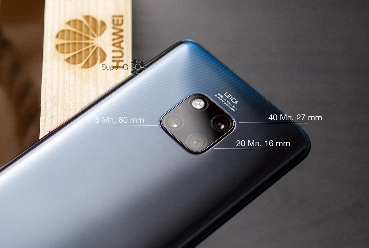 Камеры Huawei Mate 20 Pro