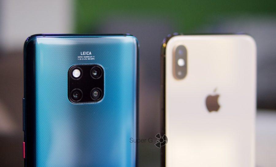 Камера iPhone Xs Max чуть лучше снимает в большинстве сцен, чем камера Huawei Mate 20 Pro