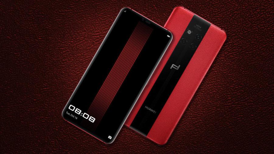 Красный Huawei Mate 20 Pro Porsche Design
