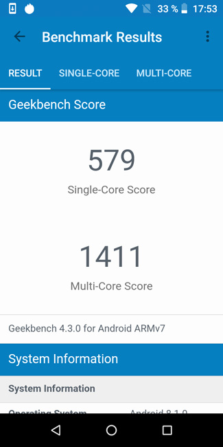 INOI 6 Geekbench4