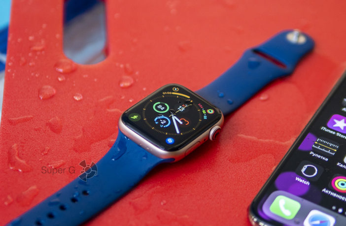 Тренируемся с Apple Watch Series 4 в бассейне