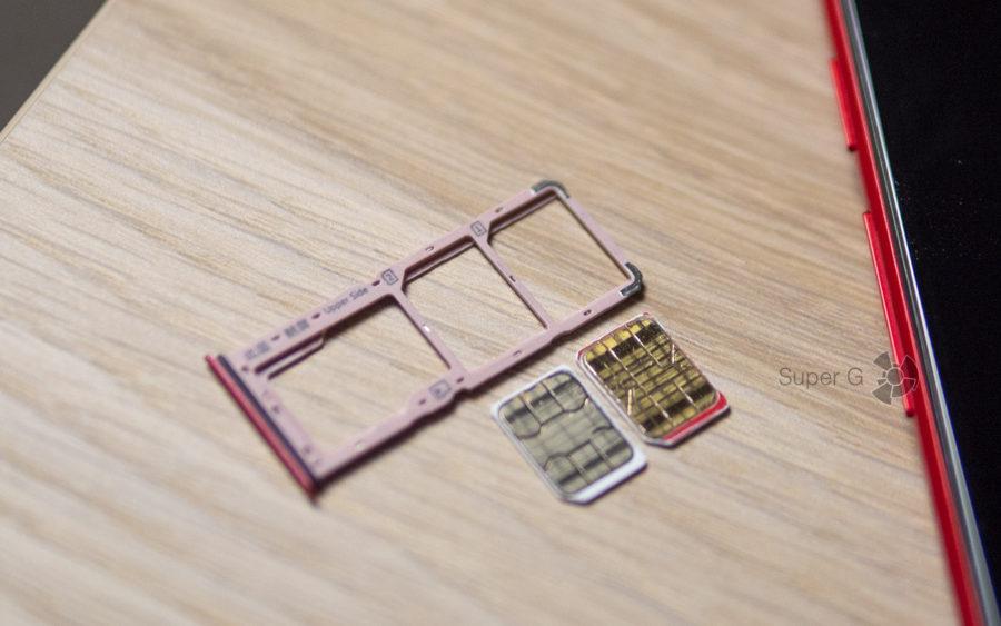 Vivo Y81 оснащён слотом одновременно и под две Nano SIM-карты, и под карточку памяти