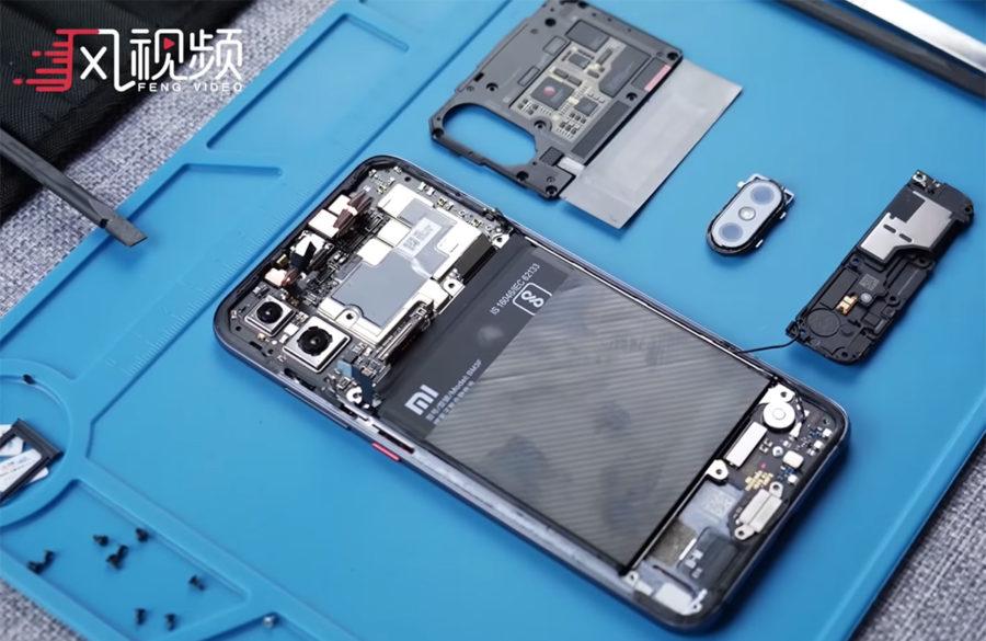 Xiaomi Mi8 Pro как в действительности выглядит процессор и материнская плата в смартфоне