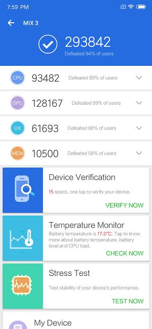 Xiaomi Mi MIX 3 AnTuTu