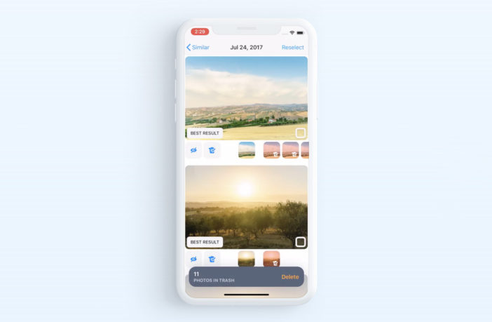 Обзор приложения Gemini Photos для очистки галереи фото на iPhone