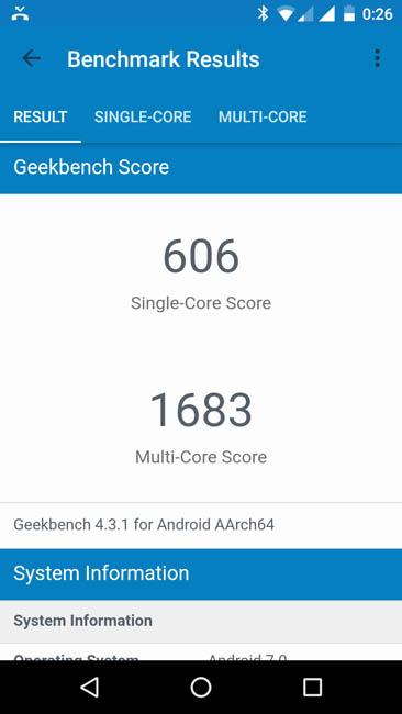 Тест Wileyfox Spark X в Geekbench 4