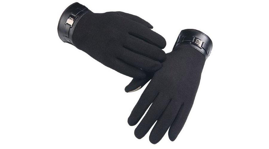 Перчатки для смартфонов с ремнями манжетами на запястье