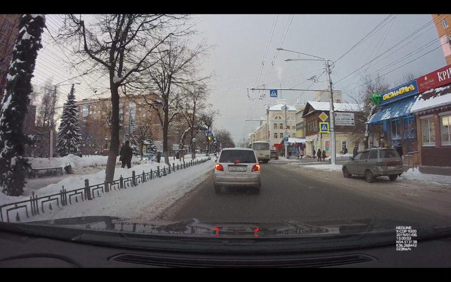 Качество видео с видеорегистратора Neoline X-COP 9200 днём