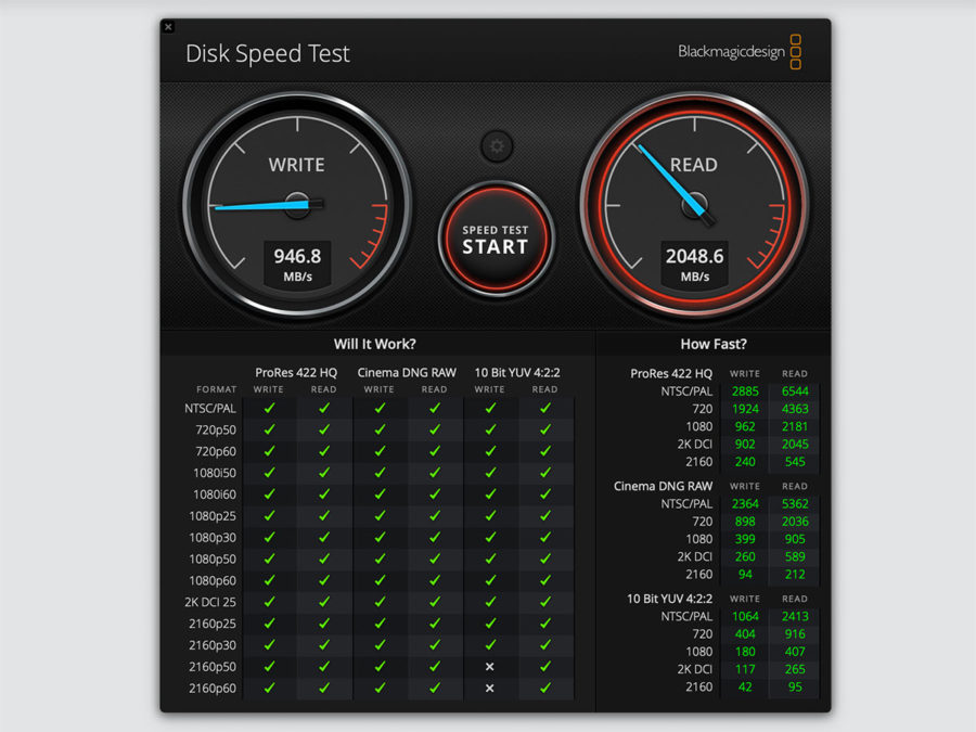 Disk Speed Test Apple MacBook Air (Late 2018)