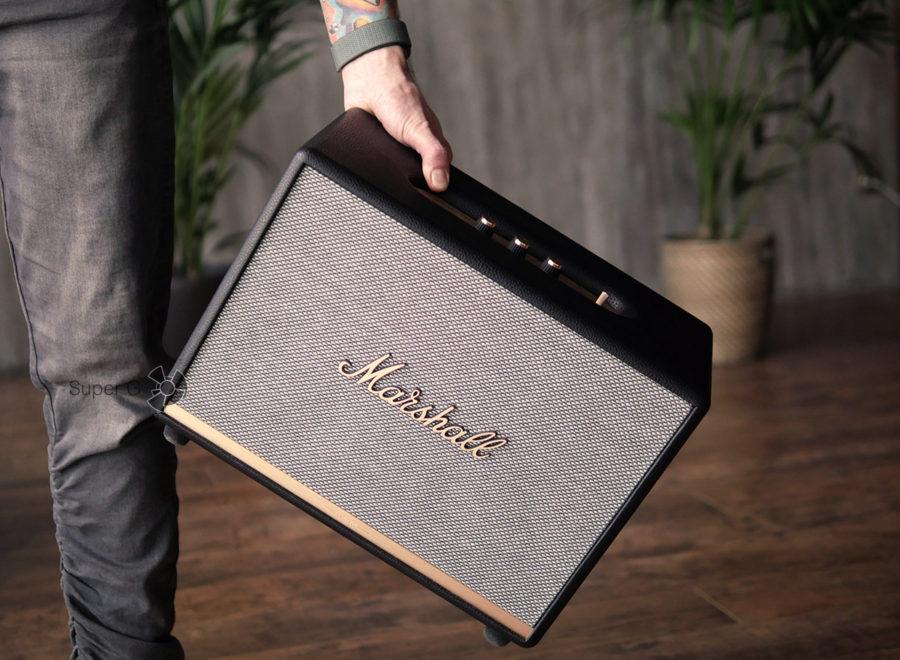 Распаковка и установка Marshall Woburn II Bluetooth