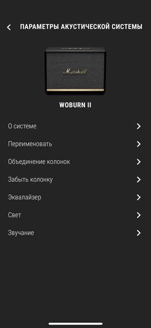 Настройка Marshall Woburn II Bluetooth через приложение для смартфона