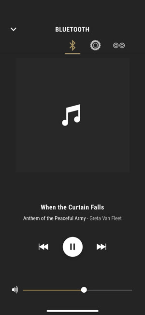 Воспроизведение музыки на Marshall Woburn II Bluetooth через фирменное приложение