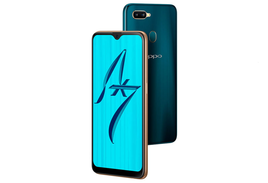 Oppo AX7 цвета корпуса - золотой и темно-синий