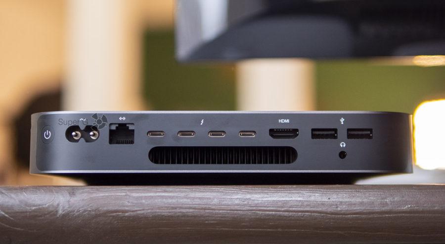Разъемы Mac mini 2018