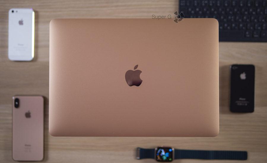 Золотистый корпус MacBook Air 2018 цена