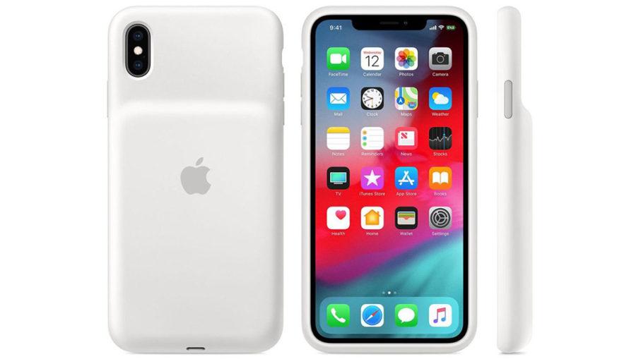 Белый Smart Battery Case для iPhone XR