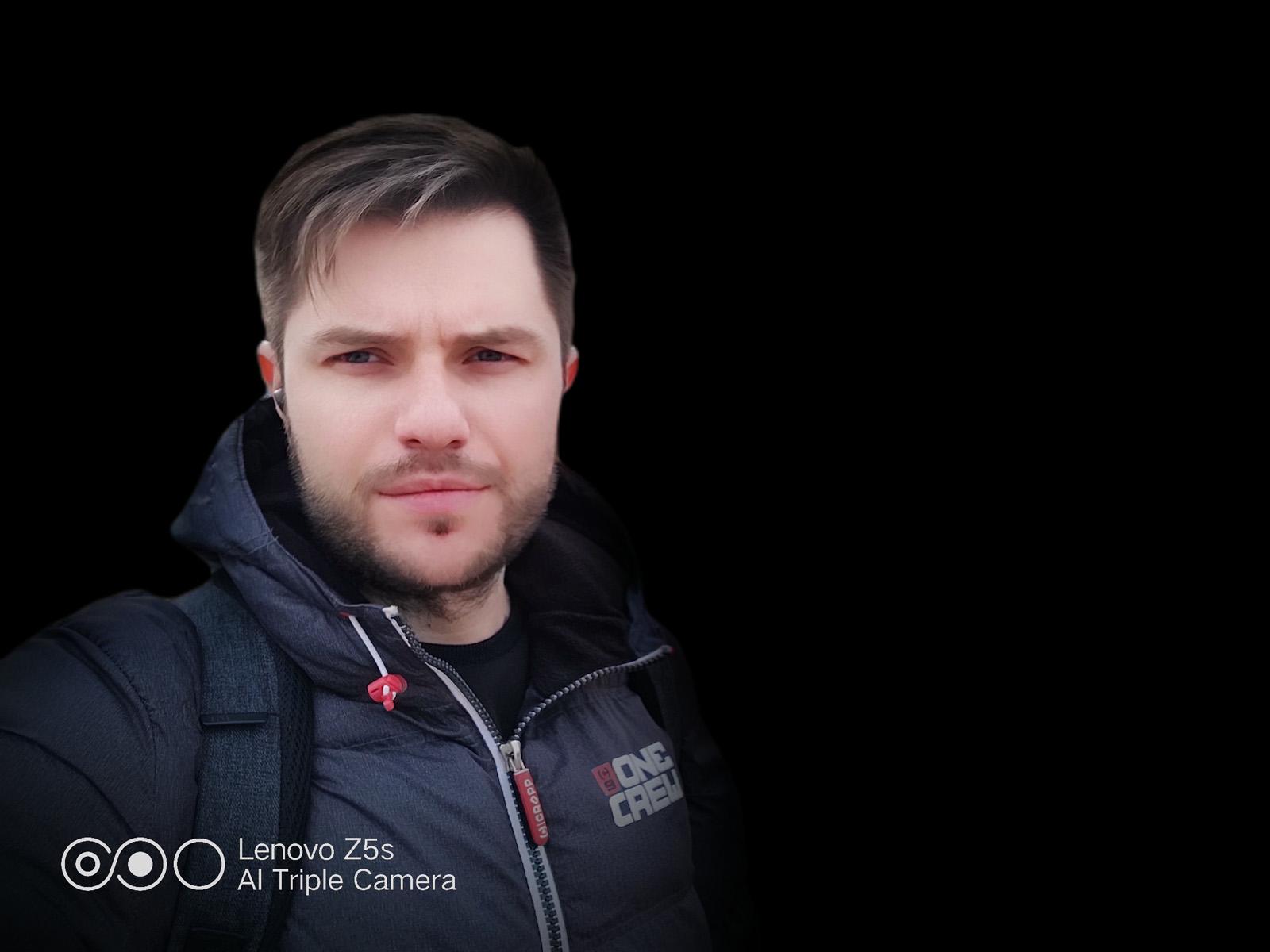 Эффект студийный свет камеры Lenovo Z5s