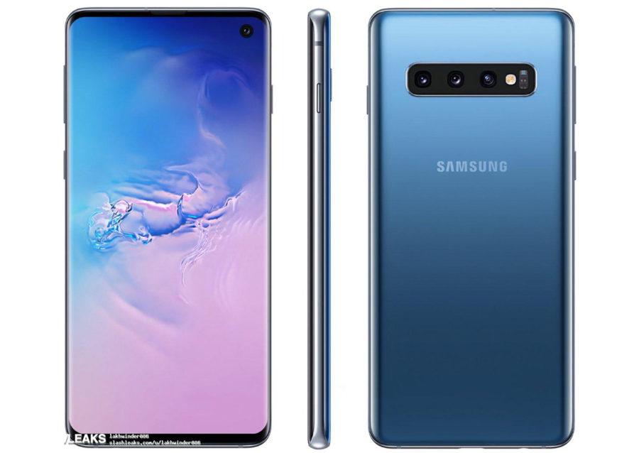 Samsung Galaxy S10 синий
