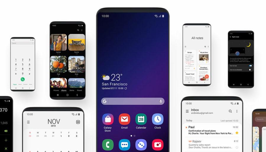 Новый интерфейс Samsung One UI