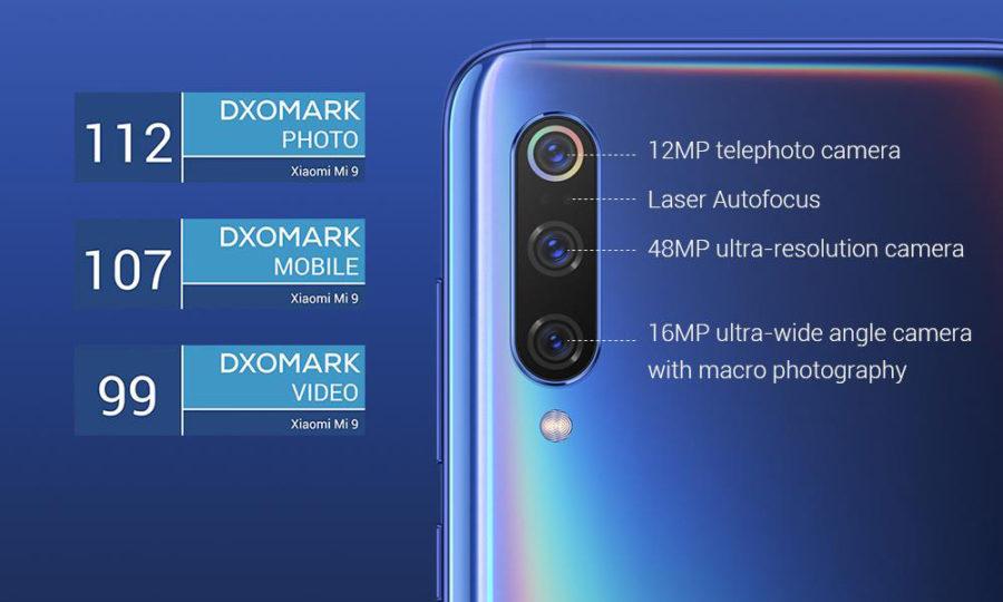 Три задние камеры Xiaomi Mi9