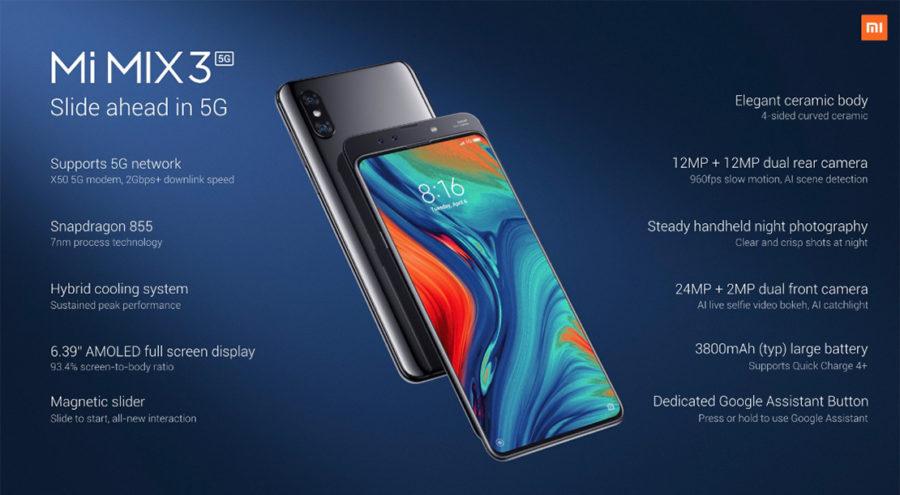 Xiaomi Mi MIX 3 5G Характеристики