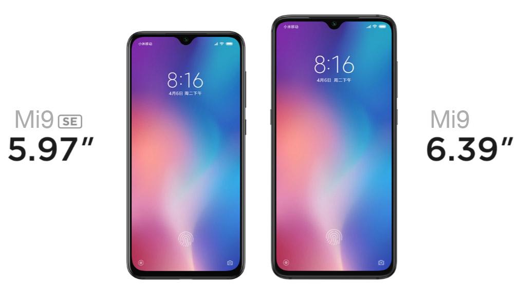 Xiaomi Mi9 сравнение с Xiaomi Mi9 SE
