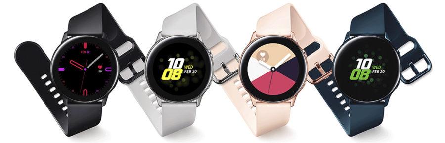 Цвета Samsung Galaxy Watch Active