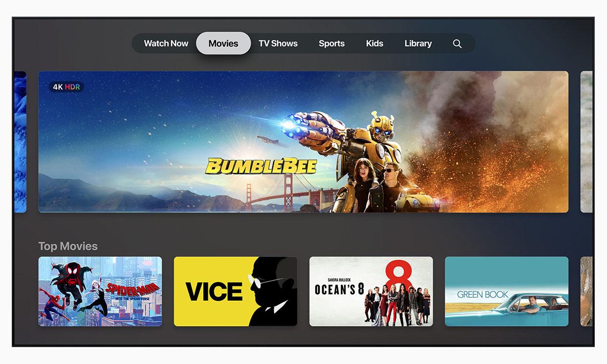 Обновление приложения Apple TV