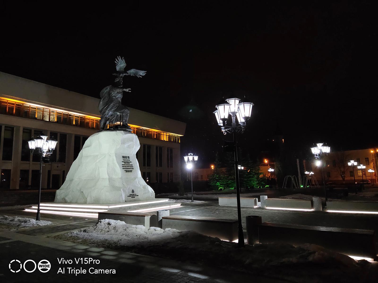 Ночная съёмка на камеру Vivo V15 Pro