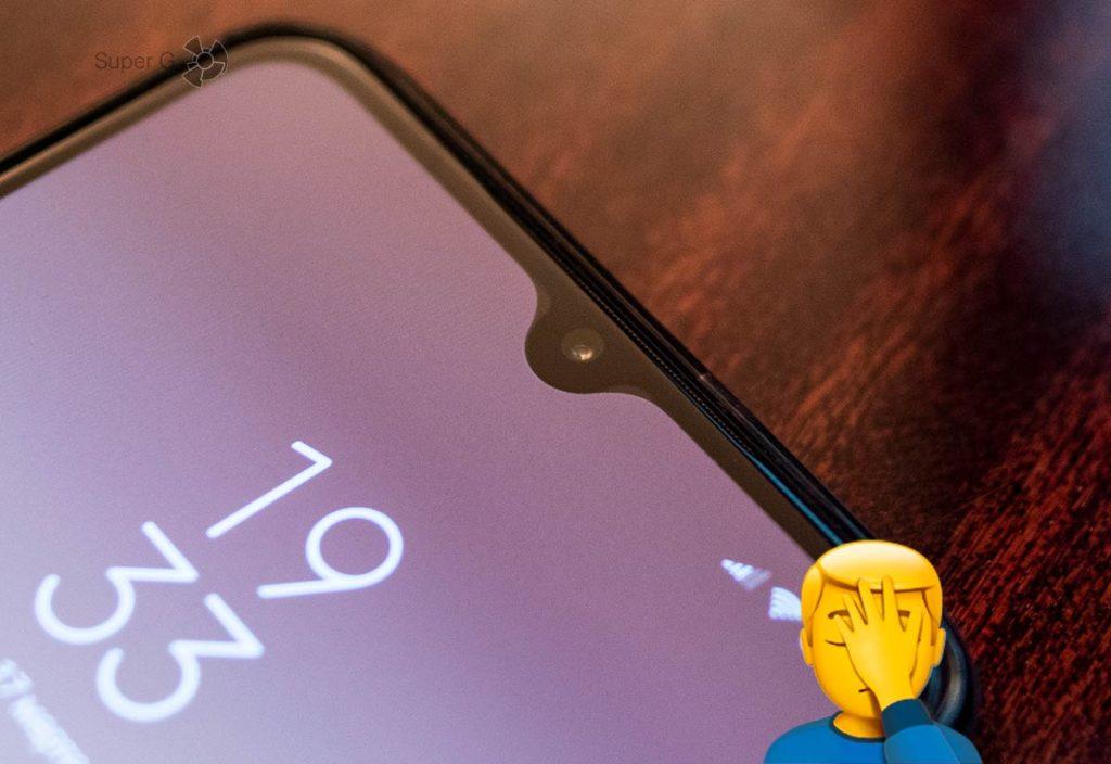 Каплевидный вырез под фронтальную камеру Xiaomi Mi 9 с программными вставками