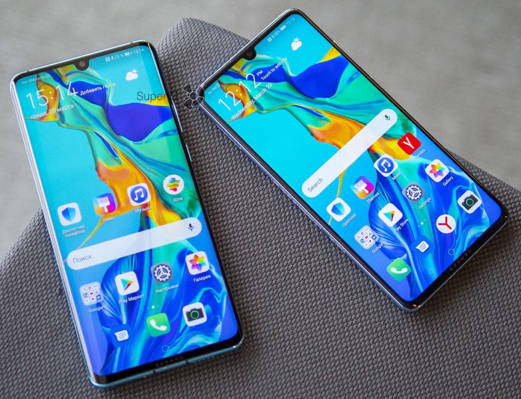 Отличия и сравнение Huawei P30 Pro и P30