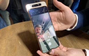 Samsung Galaxy A80 - огромный экран и поворотные камеры