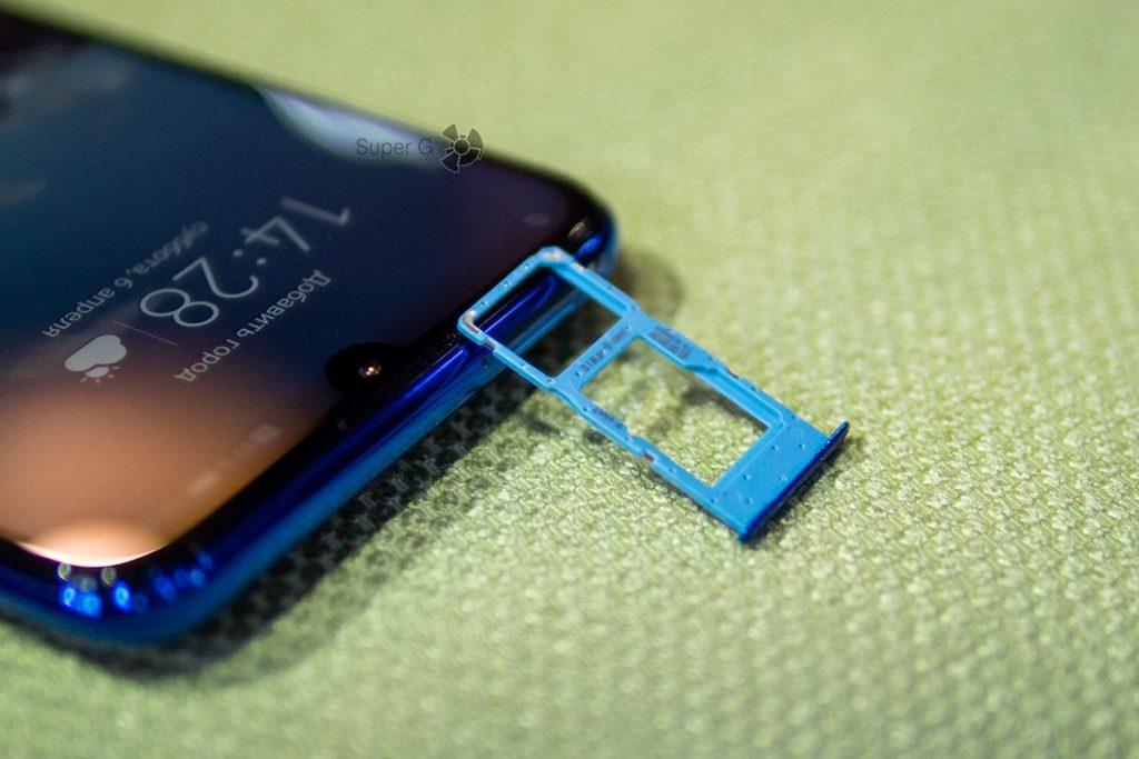 Две SIM-карты и слот под Micro SD в Honor 10i