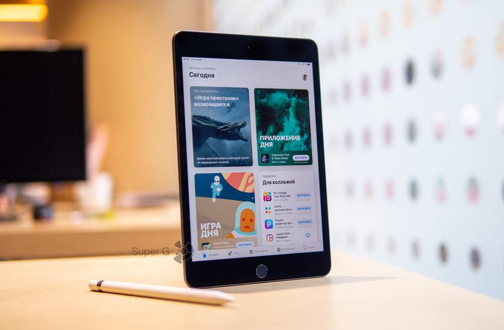 Удобство работы с Apple Pencil на iPad mini 5
