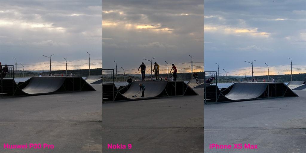 Сравнение работы HDR у Huawei P30 Pro (40 Мп), Nokia 9 и iPhone XS Max