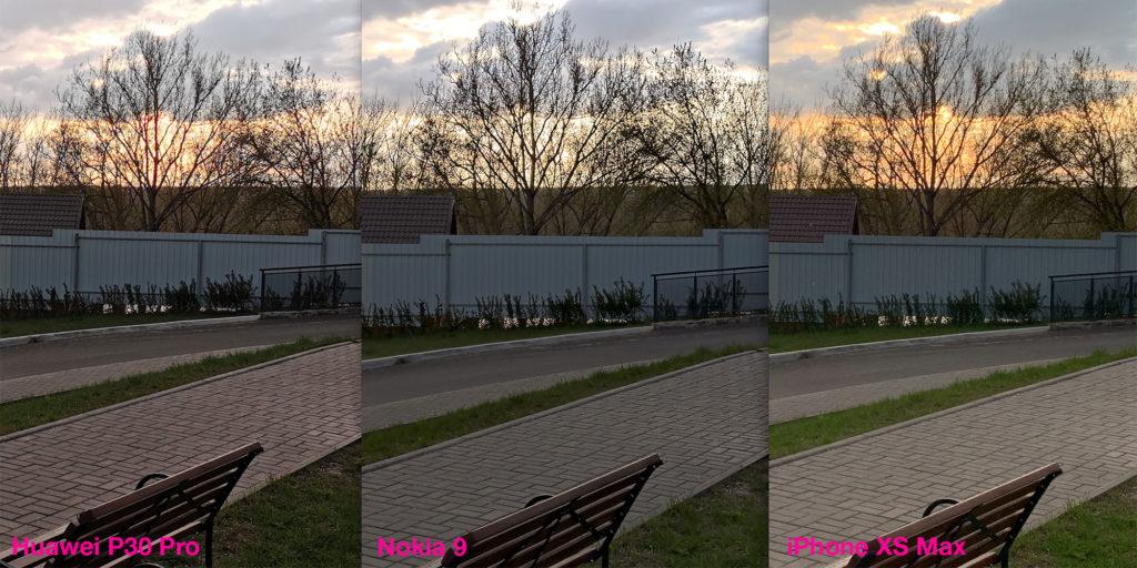 Сравнение работы HDR у Huawei P30 Pro, Nokia 9 и iPhone XS Max (2)