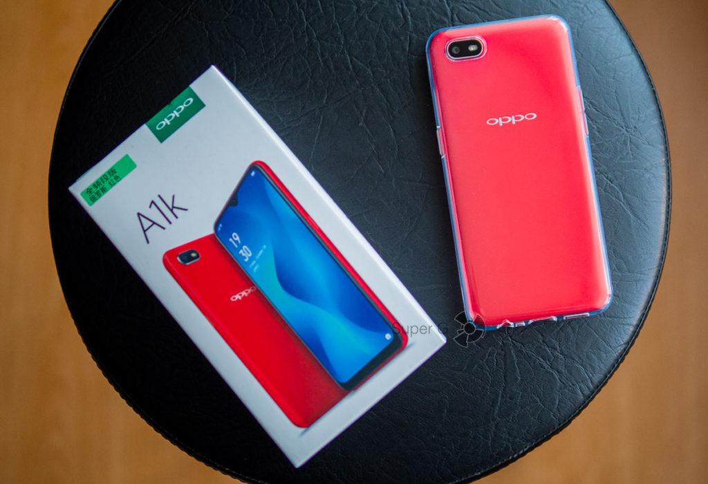 Комплект Oppo A1k и чехол