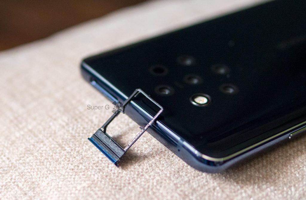Лоток Nokia 9 PureView только под две Nano SIM-карты