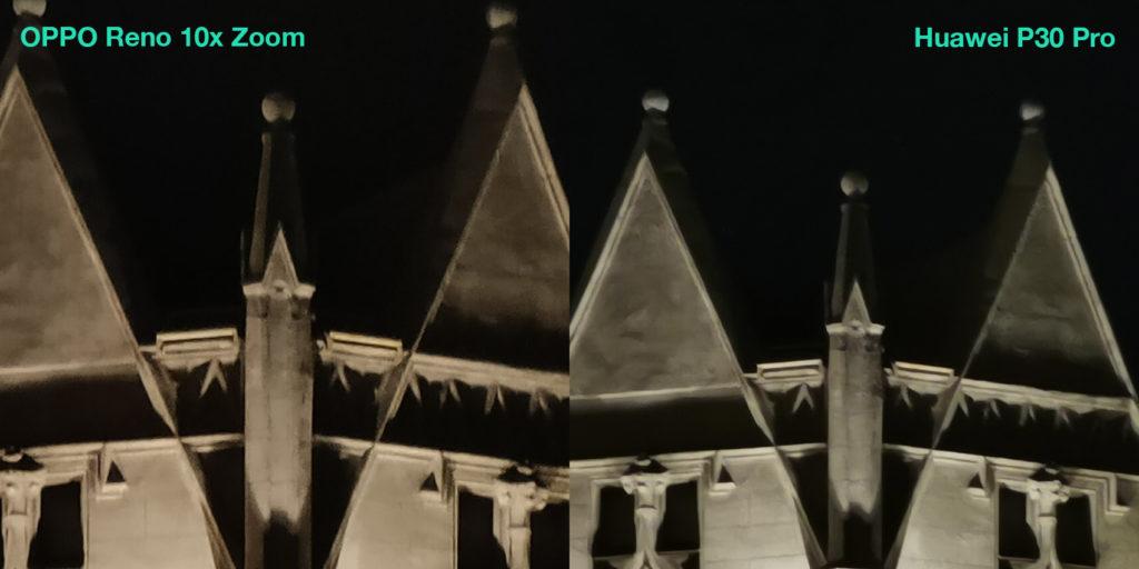 5-6x ночь - Сравнение камер Huawei P30 Pro и OPPO Reno 10z Zoom