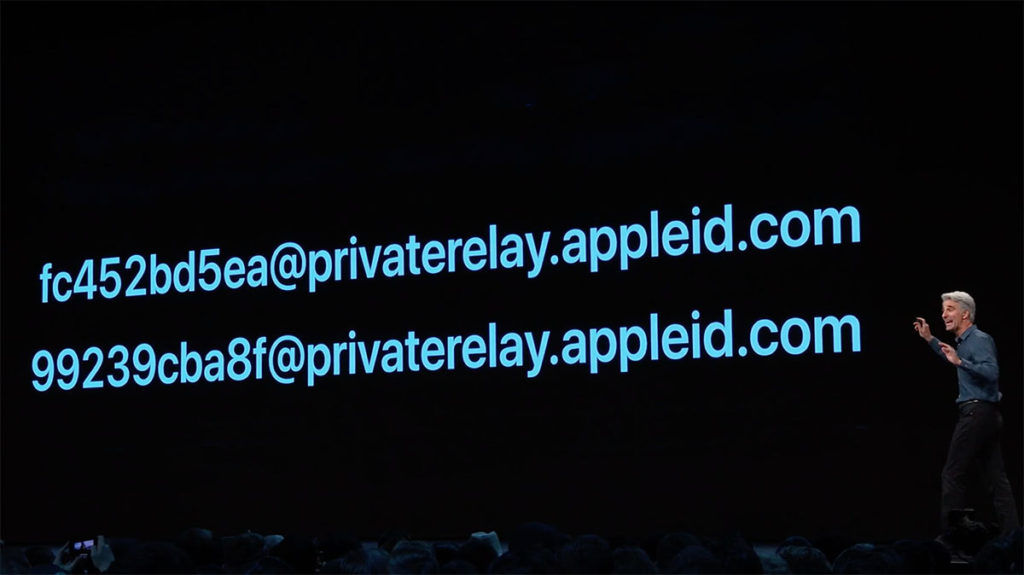 Apple Sign in фейковые адреса e-mail