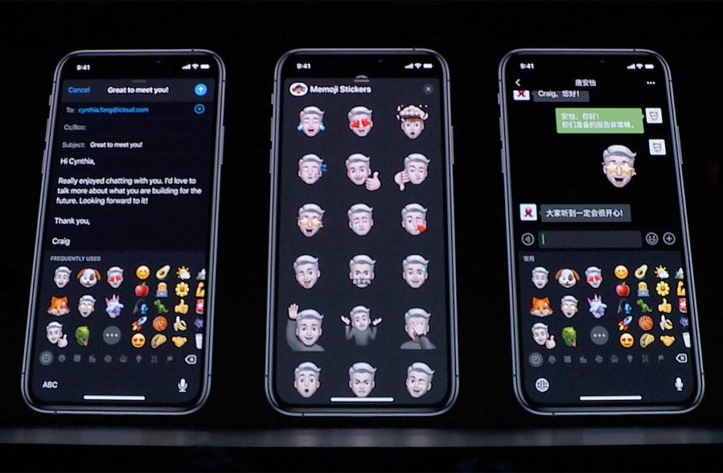 Новые memoji в iOS 13