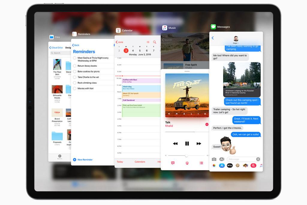 Расширенная многооконность iPadOS Slide Over