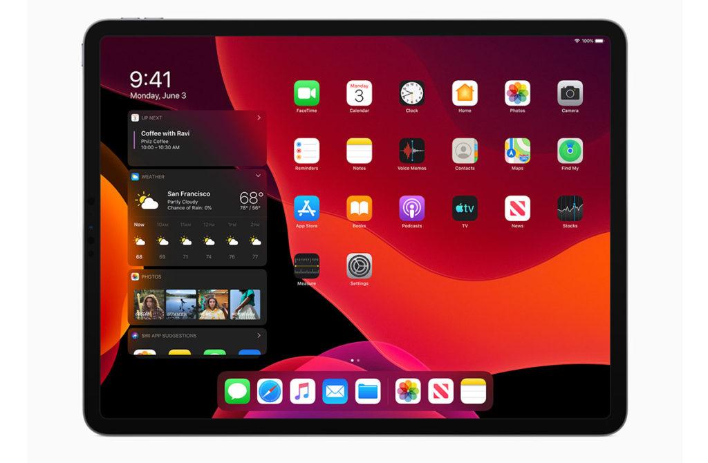 iPadOS темная версия системы