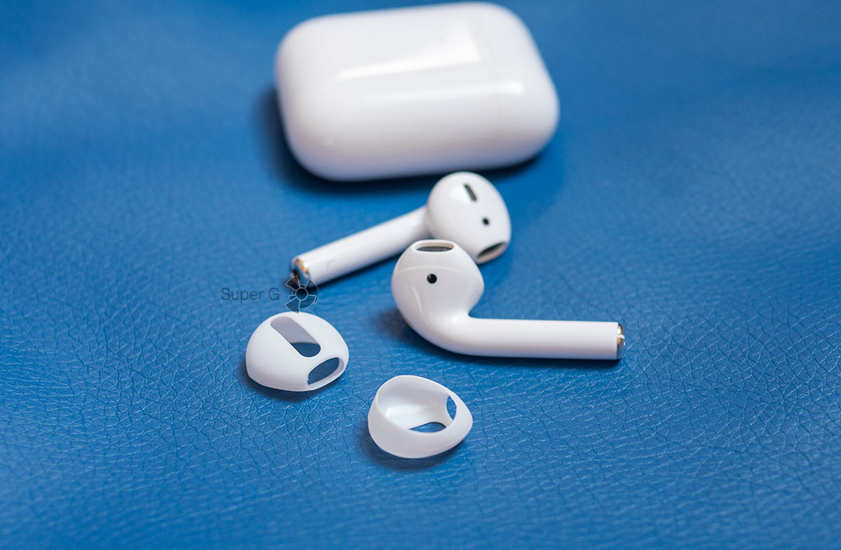 Белые амбушюры для Apple AirPods