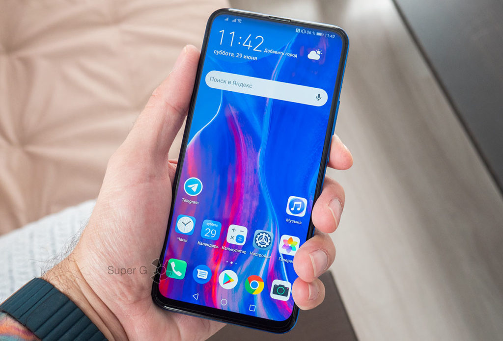Дисплей Huawei P Smart Z во всю лицевую сторону