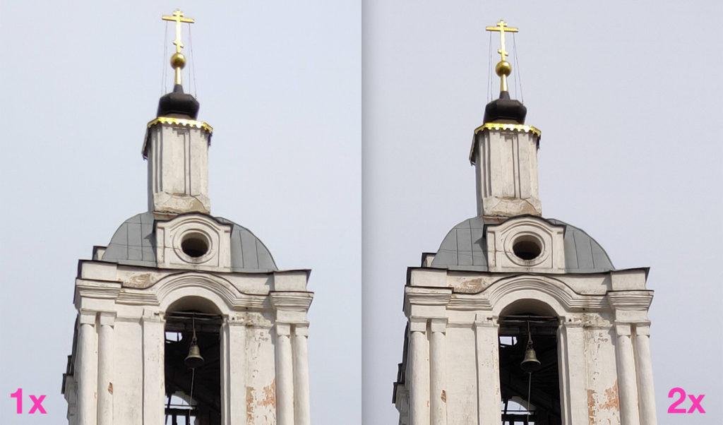 Сравнение кропов с камеры Realme 3 Pro с увеличением и без