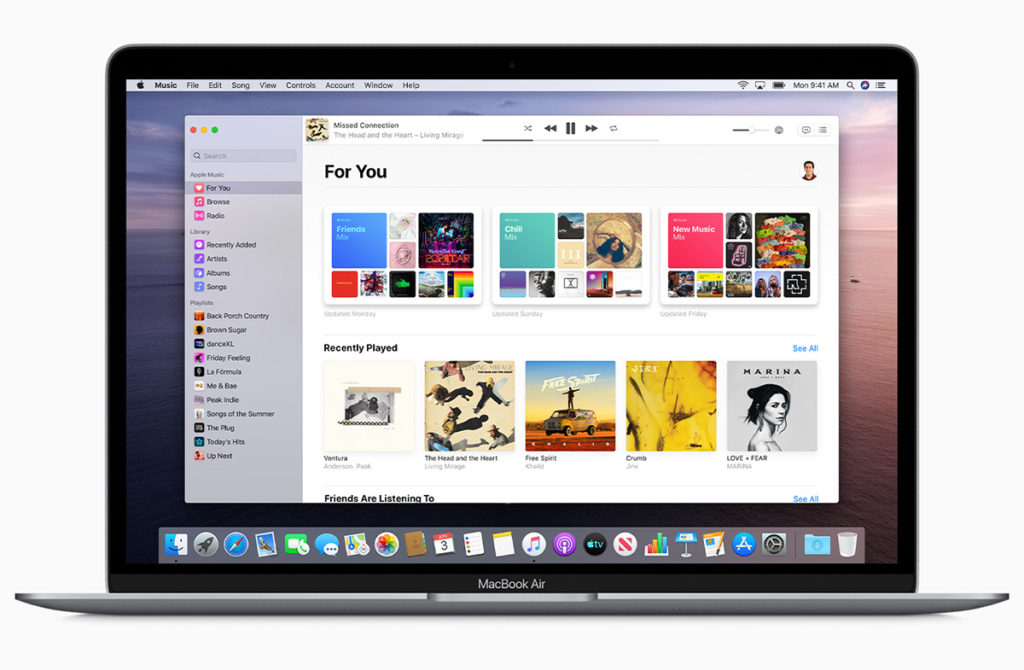Apple Music macOS Catalina